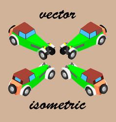 retro car in isometric vector image
