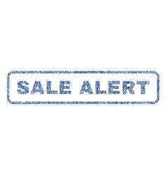 sale alert textile stamp vector image