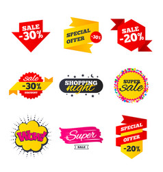 sale banners templates best offers discounts vector image