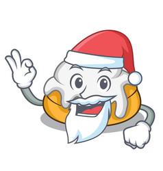 Santa cinnamon roll mascot cartoon vector