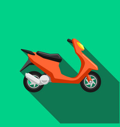 Scooter transport flat icons set moped vector