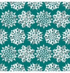Seamless Christmas snowflake pattern Paper vector image