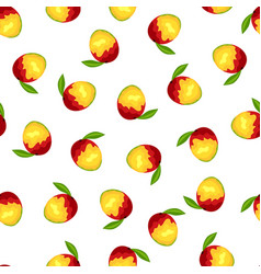 Seamless mango pattern vector
