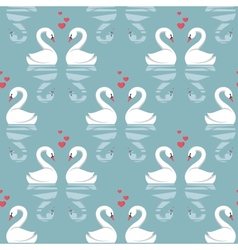 Seamless pattern with swans vector
