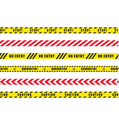 Set danger caution seamless tapes vector