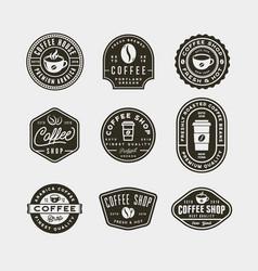 set modern vintage coffee shop labels vector image