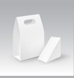 set of white blank cardboard rectangle vector image