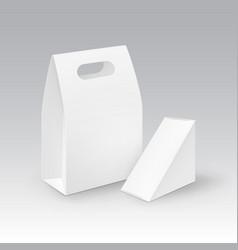 set white blank cardboard rectangle vector image