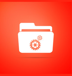 settings folder with gears icon isolated vector image