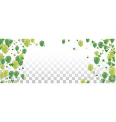 shamrock and balloons green of a st patricks day vector image