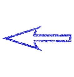 Sharp arrow left grunge textured icon vector