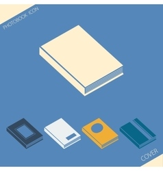 Simple icons of various photobook cover vector