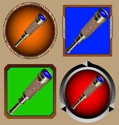 spyglass vector image