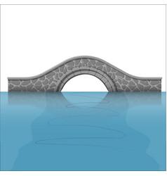 Stone bridge over river vector