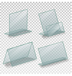 Table blank plastic stand holder empty vector