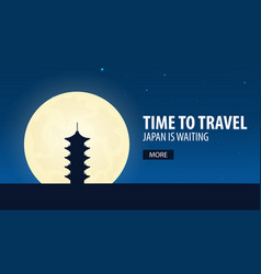 Time to travel travel to japan japan is waiting vector