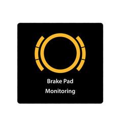 warning dashboard car icon brake pad monitoring vector image