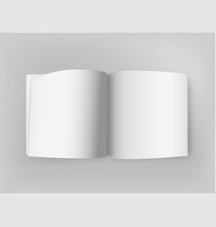 white square open book on grey table mockup vector image