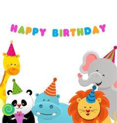 Birthday Animals vector image vector image