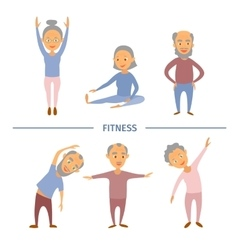 Fitness for older personsComplex Exercise vector image vector image