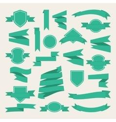 Green ribbonslabe vector image vector image