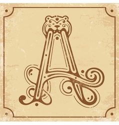 Initial A vector image vector image