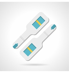Negative pregnancy test flat icon vector image vector image