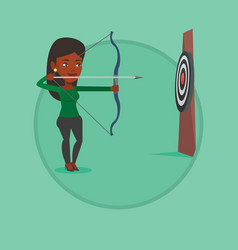 archer training with the bow vector image vector image