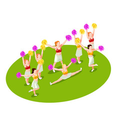 Cheerleading isometric vector