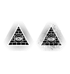 eye pyramid icon vector image vector image