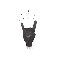 flat hand showing rock roll sign gesture vector image