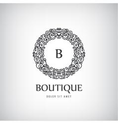 Luxury vintage logo icon vector