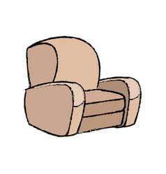 sofa armchair comfort furniture icon vector image