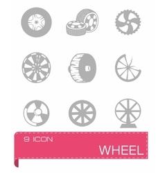 wheel icon set vector image