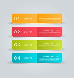 Business infographics tabs template for vector image vector image