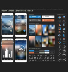 Flat design responsive UI mobile app and website vector image