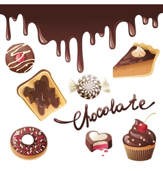 new chocolate vector image vector image