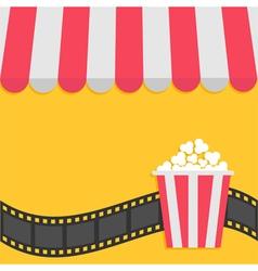 Popcorn Film strip Cinema icon Striped store vector image