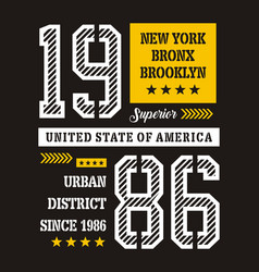 superior new york 1986 vector image