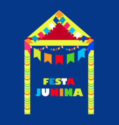 festa junina brazil festival folklore holiday vector image