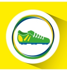 football shoe olympic games brazilian flag colors vector image