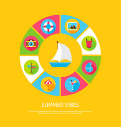 summer vibes concept vector image vector image