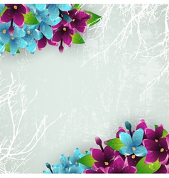 Vintage Background With Spring Lilac vector image vector image