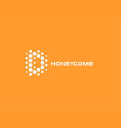 abstract letter d hexagon shapes honeyconb vector image