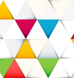 Abstract pattern with cut paper triangles vector