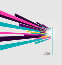 abstract straight lines in modern style vector image