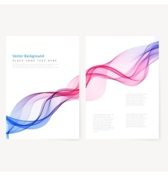 Abstract template color flyer vector
