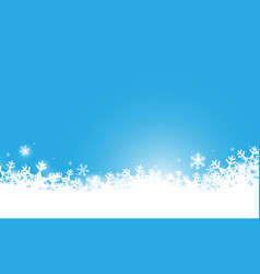 abstract white snowflakes and sparkling background vector image