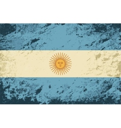 Argentinean flag Grunge background vector