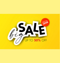big sale design special offer poster template vector image